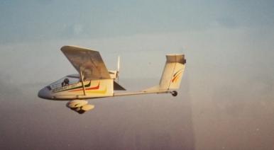 Ncola flying a plane in Abu Dhabi.