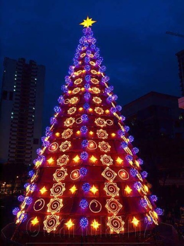 The Christmas tree at the University of Santo Tomas.